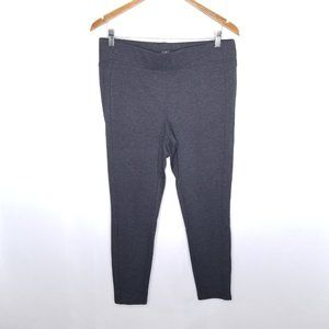 {Loft} Charcoal Gray Straight Leg Stretch Leggings
